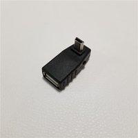 mini usb b tipi erkek toptan satış-90 Derece Aşağı Açı USB Tip A Kadın Mini B Erkek Adaptörü Dönüştürücü Araba Müzik Ses U Disk MP3 için