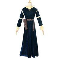 Wholesale merida clothes for sale - Group buy Merida brave legend COS dress brave girl Brave Melida cosplay full set Stage costume performance clothing Game anime cosplay costume