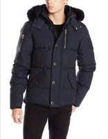 Luxury Brand Mens Winter Jacket Coat Canada Moose Goose Down Parka With Big Warm Fur Hooded Collar Clothe