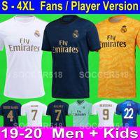 xxl 18 großhandel-HAZARD Top 2019 2020 Real Madrid neues weißes Trikot drittes Auswärts grünes Trikot ISCO SERGIO RAMOS ZIDANE Maillots de real madrid 18 19 20 white soccer jerseys football shirt
