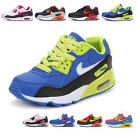 yeni basketbol ayakkabıları erkek toptan satış-Yeni Sıcak Satış Marka Çocuk ayakkabıları çocuk spor hava yastığı max90 yastıklama yumuşak alt kızın basketbol sneakers Çocuğun Koşu ayakkabıları