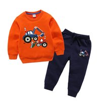 Wholesale Kid Cotton Sportswear Multi styles Children Autumn Clothing Sets Summer Baby Boys Pants Long Sleeve T Shirts Y Outfits Toddler Suit
