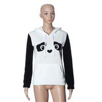 женщина-толстовка панды оптовых-Одежда Женская мода панда карман толстовка с капюшоном пуловер рубашка повседневная толстовка с капюшоном дамы с капюшоном рубашка