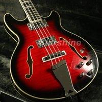 335 guitarra de bordo venda por atacado-JBbPGSR4078 Corpo Semi Oco 335 Baixo Guitarra Elétrica Coreia Do Hardware Chamador de Bordo Veneer