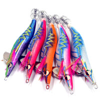 Wholesale japan lures for sale - 5pcs luminous squid hook Japan cloth noise squid jigs wood shrimp exported to Asia new design jigging fishing lures