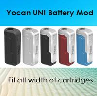 Wholesale cigarette online - Authentic Yocan UNI Mod E Cigarette Box Mod For All Width of Cartridges Preheating Voltage Adjustable Vape Mod Colors