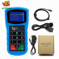 ingrosso codice pin per vag-Super VAG K + CAN Plus 2.0 Diagnosi + Correzione chilometraggio + Pin Code Reader Super VAG K CAN 2.0 Programmatore chiave, Strumento di reset dell'airbag
