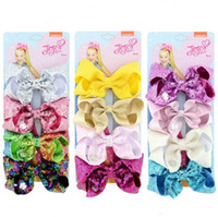 Wholesale mermaid pins for sale - Group buy JOJO Sequins Hairpin Mermaid Glitter Hair Clip Kids Girls Cute Bowknot Bling Barrettes Hair Pins Hair Accessories Set DHL FREE A52003