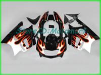 1998 cbr f3 kit de carenado al por mayor-Kit de carenado de motocicleta para HONDA CBR600F3 97 98 CBR 600 F3 1997 1998 ABS Rojo Plata negro Carenados + regalos HH26