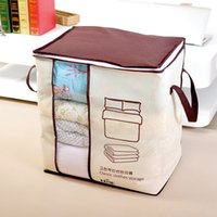 Wholesale space beds for sale - Group buy Tuba Practical Quilt Clothing Storage Bag Non Woven Fabrics Square Colorful Home Dustproof Save Space Storage Bags lfD1