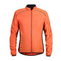 Wholesale yellow running jacket resale online - Ultra light Rainproof Coats and Jackets Running Windproof Reflective Cycling Jacket Ride Cycle MTB Clothes Long Sleeve Jerseys