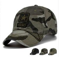 qualitätsarmeehüte großhandel-Neue Männer Pentagram Cap Top Qualität US Army Caps Herren Angeln Hut Camo Baseball Hats Knochen einstellbar