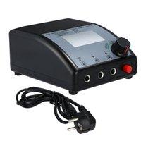 tatuaje controlado controlado al por mayor-Fuente de alimentación de tatuaje digital de doble salida para pantalla LCD para máquina de tatuaje Control de velocidad LED Luz UE Enchufe
