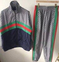 chándal fresco de los hombres al por mayor-2019 moda chándal hombres ocio deporte traje hombres ropa deportiva diseño de marca Jogger Set Cool sudadera envío gratis M6