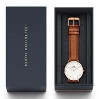 quarzrot nylonband großhandel-Neue Mode Top Qualität Daniel Wellington Klassische Uhren Herren 40mm Damen 36mm Lederarmband Quarz DW Uhr Designer Armbanduhren