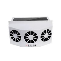 Wholesale fans exhaust for sale - Group buy High power Dual mode Power Supply Car Solar Powered Exhaust Fancar Ventilation Fan Car Gills Cooler Colors ABS radiator