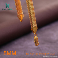 Wholesale 26inch chain for sale - Group buy 10pcs Trendy Gold Plating Necklace Men Chain MM Snake Necklace inch Fashion Necklaces Men Jewelry Guarantee Long Necklaces
