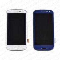 сенсорный дисплей для галактики samsung s3 оптовых-ЖК-дисплей с сенсорным экраном Digitizer Ассамблеи запасные части для Samsung Galaxy S3 i9300 S4 i9500 S5 i9600 G900 с рамкой