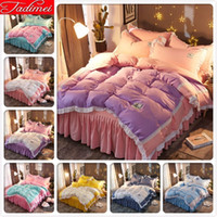 Wholesale queen size lace bedspread for sale - Group buy Purple Pink Duvet AB Double Side Duvet Cover Bedding Set Kids Child Girl Soft Cotton Bed Linen Single Full Queen Size Bedspreads