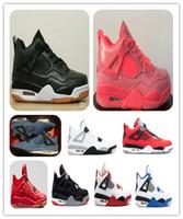 x lumière laser achat en gros de-4 SE Laser Black Gum 4s Chaussures de basketball pour hommes, Hot Punch Tattoo, CACTUS JACK Travis Scotts x Baskets Black White Gum