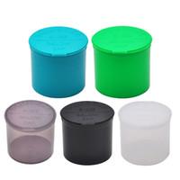 acryl-box-top großhandel-90 Dram leere Squeeze Pop Top Flasche-Fläschchen Kraut Box Acryl Kunststoff Stroage Stash Jar Kunststoff Pille Flasche Fall Box Kräuterbehälter