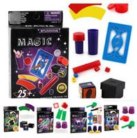 magische tricks werkzeuge großhandel-5 stil zauberer zaubertricks spielzeug werkzeug zubehör requisiten set kit für kinder kinder geburtstag weihnachten festival geschenk