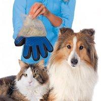 ingrosso pettini di capelli in silicone-Guanto in silicone per animali domestici Guanto per animali domestici Grooming per capelli Pulizia guanto per massaggi Forniture per cani per cani Spazzola per pulire i peli del cane