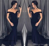 draped bridesmaids dresses 2021 - 2019 Sexy Black Mermaid Evening Dress Cheap Off The Shoulders Long Formal Wear Bridesmaid Dress Party Gown Custom Made Plus Size