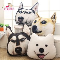 Wholesale toy husky dogs resale online - New Hot D cm cm Samoyed Husky Dog Plush Toys Dolls Stuffed Animal Pillow Sofa Car Decorative Creative Birthday Gift