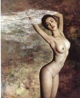 schöne frau ölgemälde großhandel-Hotel Western Riesige Bild Malerei Traditionellen Hintergrund Hohe Qualität Schöne Nackte Frauen Handgemalte Ölgemälde Gor
