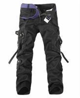 гибкий стрейч оптовых-Men's Brand Fashion Tactical Cargo Pants Men Combat Army  Pants Cotton Multi Pockets Stretch Flexible Man Casual Trouser