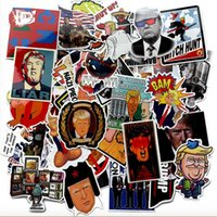 adesivos engraçados impermeáveis venda por atacado-Trump Graffiti Adesivo Criativo Engraçado Trump Geladeira Guitarra Brinquedo Irregular Novo DIY Adesivo À Prova D 'Água 55 pçs / lote