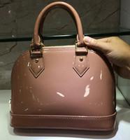 Wholesale black patent bag resale online - Luxury Classic Shell Bag Damier Patent Leather Grid Bags Designer Handbags Shoulder Bags Women Canvas Crossbody Purse Shopping Tote