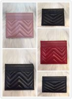 Wholesale nylon credit card wallet for sale - Group buy 2018 brand fashion women s card holders black leather mini wallet pocket high quality fashion wave pattern women s card holder