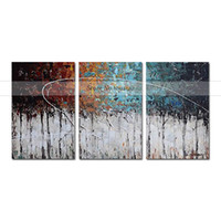 Wholesale handmade wall decor painting online - Modern Art Abstract Painting Color Forest panel Canvas Art Abstract Oil Painting on Canvas Handmade Wall Art Decor Home
