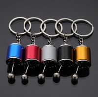 Wholesale car parts resale online - Manual Transmission stick gear Shift knob rod Keychain Auto Part Model Automotive Keyring Key Chain Ring Keyrings Keyfob