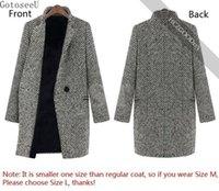 damen warmgraben großhandel-GotoseeU Damen Winter Warm Revers Graben Wolle Cashmere Langer Parka Mantel Outwear
