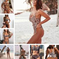 Wholesale pink brown leopard print resale online - 2019 Hot Bikini Leopard Printed Biquinis Swimsuits Women Swimwear Bathing Suit Maillot De Bain Femme Thong Bikini Set Sexy
