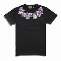 mens moda köpeği toptan satış-2019 marka Erkek Giyim Erkek yaka Çiçekler Hound Köpek baskı T Gömlek Kısa Kollu Erkek hunter Tshirt Moda Tee S-XL