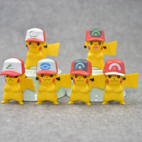 Wholesale toys for sale - Best selling pc Detective Pikachu pvc dolls Pikachu toys cartoon animals toys Furnishing articles decoration best Gifts