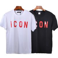 camiseta hombres casual delgado al por mayor-Marca ICON Letter Cotton Summer Soft Slim Tshirt Tops Tee for Men Women Mesh Baseball Cap Snapback Outdoor Dad Hat Set