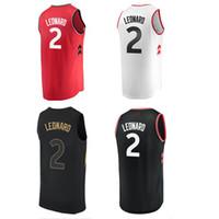 7999feb3 Raptors 2 Leonard The Jersey Black Men's Basketball Jerseys 2019 New season  Fashion Mens polo shirt Men Sport Jersey Size S-XXL