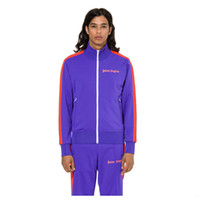 ingrosso giacche jacquard-19FW Palm Angeli Giacca Uomini Donne felpata casuale del monogramma del jacquard Outwear Fitness Sport Fashion HFLSJK347