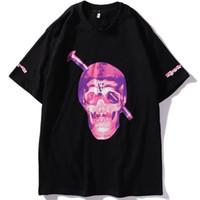 roxo dos homens camisetas venda por atacado-Mens Designer T Camisas Dos Homens VLONE Roxo Tees 3D Impresso Mangas Curtas Roupas Masculinas Shorts Moda