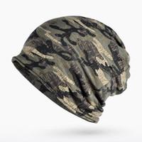 военные шарфы оптовых-Сейум осень зима лето шляпа мужчины женщины тактический армейский камуфляж шапка вязаный хлопок Skullie тепловой шарф камуфляж шапка