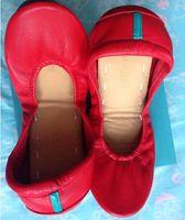 Wholesale yoga toes shoes resale online - Women Foldable Ballet Shoes Fashion Brand Flat Yoga Breathable soft genuine leather Cowhide Training performance dance Portable shoes