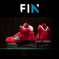 ingrosso basketball trophy-New Trophy Room x 5 Jumpman FNF dmp raging bulls 5s Rosso Grigio uomo Scarpe da basket Sport Sneakers Designer chaussures trainer Sneakers 7-13