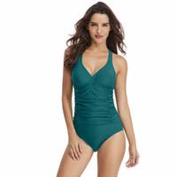 Wholesale womens plus size bathing suits resale online - 2019 New Swimwear Womens One Piece Sexy Swimsuit Shoulder Cross Straps r Monokini Beach Bathing Swimming Suit Plus Size Bikini