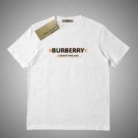 niedliche hemddrucke großhandel-Burberry Sommermode Männer Frauen T-Shirt Brief gedruckt T-Shirt Casual Tops Cute White Tees Kurzarm # 564145
