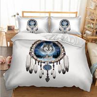 набор постельных принадлежностей для волков оптовых-Fanaijia 3d wolf Bedding Sets twin size animal Duvet Cover with pillowcase set bedline full size bed set